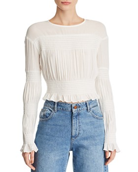 b366abab9e2c0 WAYF - Tyler Smocked Cropped Top ...