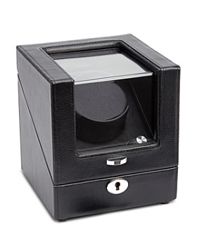 ROYCE New York - Pebbled Leather Battery-Powered Watch Winder