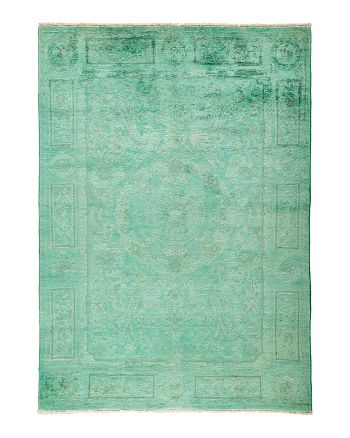 """Solo Rugs - Vibrance Collection Morganite Hand-Knotted Area Rug, 5'2"""" x 7'3"""""""