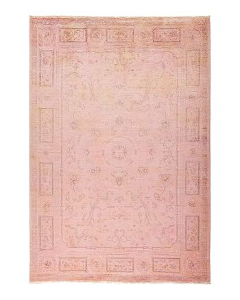 """Solo Rugs - Vibrance Collection Morganite Hand-Knotted Area Rug, 6'1"""" x 8'10"""""""