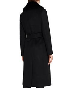 REISS - Orson Faux-Fur-Trimmed Wool Coat