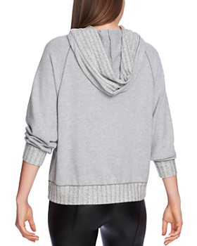 1.STATE - Ribbed Hooded Sweatshirt