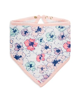 Aden and Anais - Girls' Trail Bloom Bandana Bib - Baby
