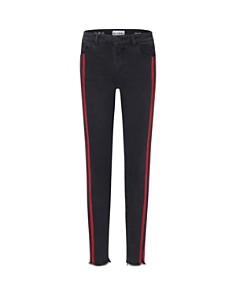 DL1961 - Girls' Chloe Frayed Skinny Jeans with Athletic Stripes - Big Kid