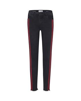 DL1961 - Girls' Chloe Frayed Skinny Jeans with Athletic Stripes - Big Kid