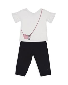 Armani - Girls' Handbag Tee & Leggings Set - Little Kid, Big Kid