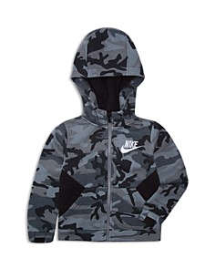 Nike - Boys' Club Fleece Camouflage Zip-Up Hoodie - Little Kid
