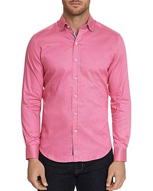 Robert Graham T-shirts BELDEN WOVEN-PATTERN CLASSIC FIT SHIRT