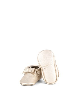 f93dc2c18eb0 ... Freshly Picked - Girls  Leather Bow Moccasins - Baby