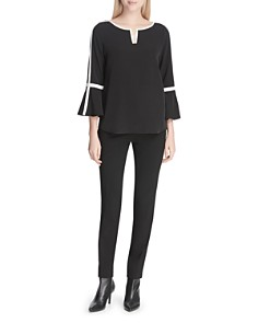 Calvin Klein - Piped Bell Sleeve Top