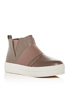 J/Slides - Women's Holland Platform High-Top Sneakers