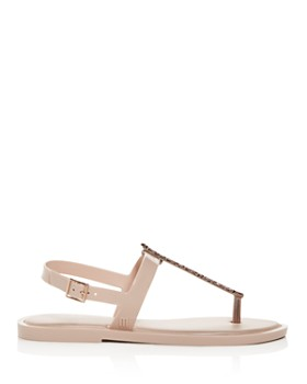 Melissa - Women's Embellished Slim T-Strap Thong Sandals
