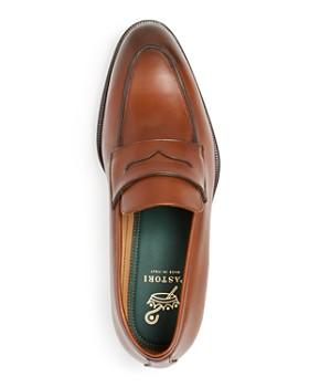 PASTORI - Men's Titus Leather Apron-Toe Penny Loafers