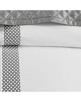 Hudson Park Collection - Embroidered Geo Bedding Collection - 100% Exclusive
