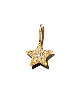 Zoë Chicco - 14K Yellow Gold Midi Bitty Diamond Star Charm