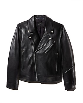 3000876df0893 PS Paul Smith - Leather Moto Jacket - 100% Exclusive ...