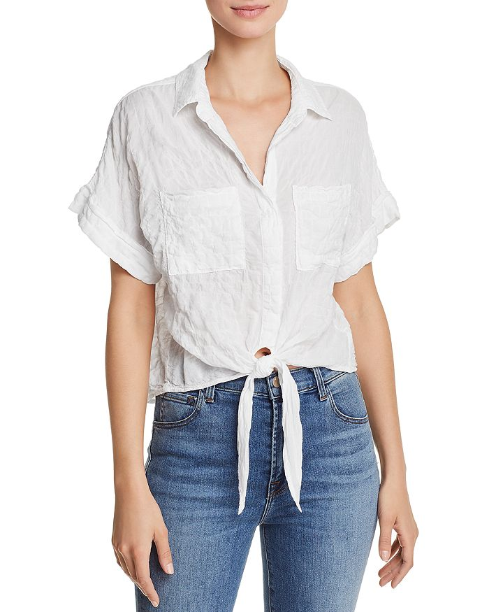 Bella Dahl - Tie-Front Cropped Shirt