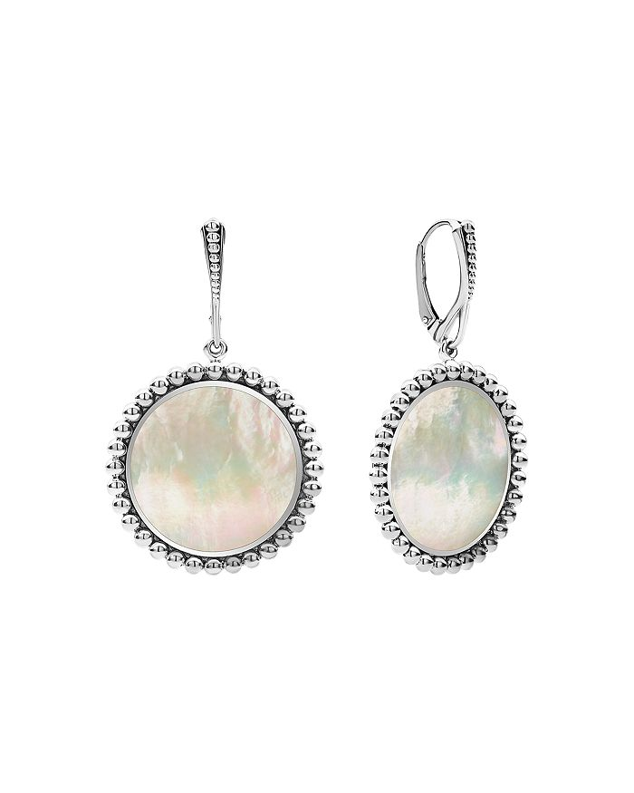 Lagos STERLING SILVER MAYA MOTHER-OF-PEARL DROP EARRINGS