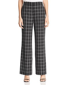 Fame and Partners - The Holt Plaid Wide-Leg Pants - 100% Exclusive