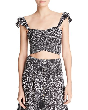 Tiare Hawaii - Hollie Star-Print Cropped Top