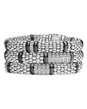 LAGOS - Black Ceramic Diamond Bracelets