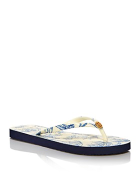 fc2ad4a10 Tory Burch - Women s Printed Thin Flip-Flops ...