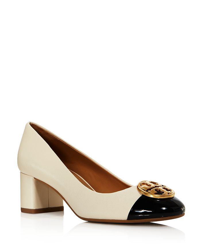 Tory Burch - Women's Chelsea Cap Toe Block Heel Pumps