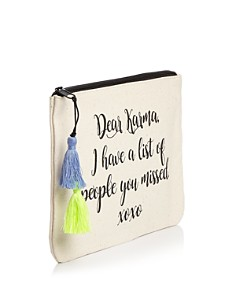 Fallon & Royce - Dear Karma Canvas Pouch