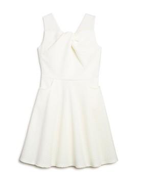 US Angels - Girls' Sleeveless Knot-Front Dress - Big Kid