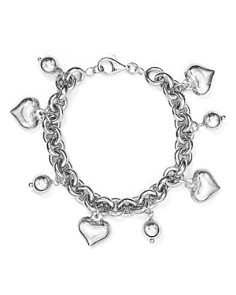 AQUA - Heart & Ball Charm Bracelet in Sterling Silver - 100% Exclusive