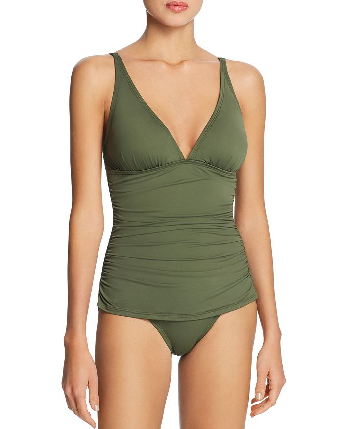 Tommy Bahama PEARL SOLIDS V NECK ONE PIECE SWIMSUIT