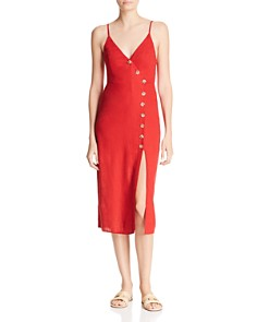Re:Named - Sleeveless Button-Front Dress