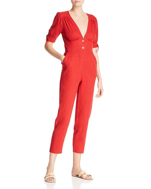 Re:Named - Short-Sleeve Cropped Jumpsuit