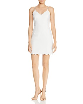 AQUA - Scalloped Sleeveless Sheath Dress - 100% Exclusive ... ae5b90518