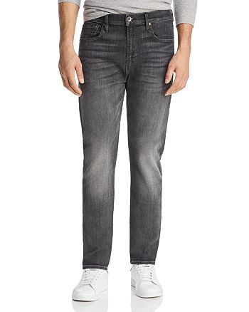 7 For All Mankind - Adrien Tapered Fit Jeans in Authentic Vicious Grey
