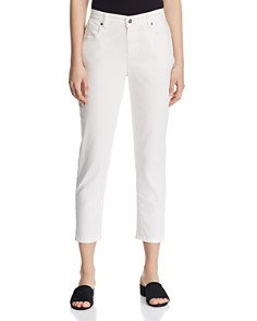 Eileen Fisher - Skinny Cropped Jeans in Ivory