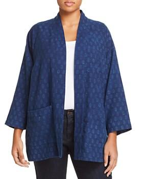 Eileen Fisher Plus - Dot Print Kimono Jacket
