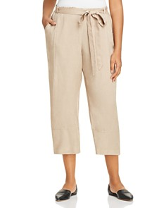 Eileen Fisher Plus - Belted Lantern Cropped Pants