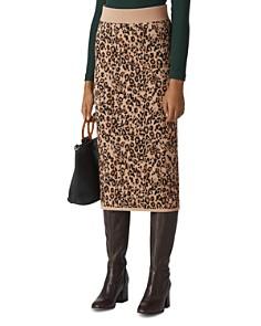 Whistles - Jungle Cat Knit Skirt