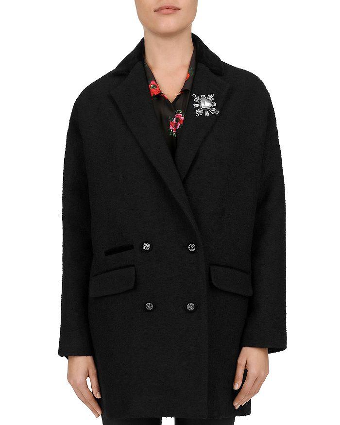 The Kooples - Ruby Heart-Brooch Coat
