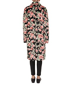 The Kooples - Floral-Print Faux-Fur Coat