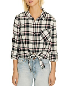 Sanctuary - Haley Plaid Tie-Hem Shirt