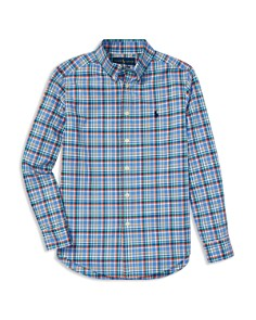Ralph Lauren - Boys' Checked-Plaid Poplin Sport Shirt - Big Kid