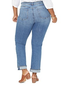 NYDJ Plus - Marilyn Straight-Leg Cuffed Ankle Jeans in Rhodes