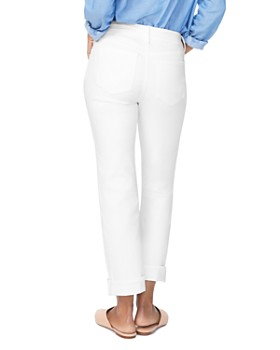 NYDJ - Marilyn Straight-Leg Cuffed Ankle Jeans in Optic White
