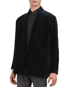 The Kooples - Printed Velvet Kimono-Style Jacket