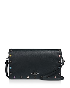 COACH - Hayden Multicolored Rivet Crossbody Clutch
