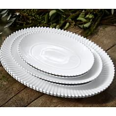 "Costa Nova - White Pearl 15.75"" Oval Platter"