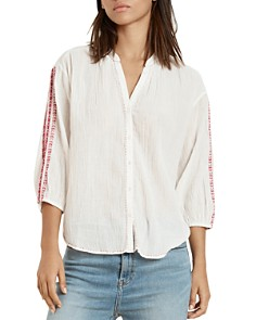 Velvet by Graham & Spencer - Auburn Embroidered Blouse