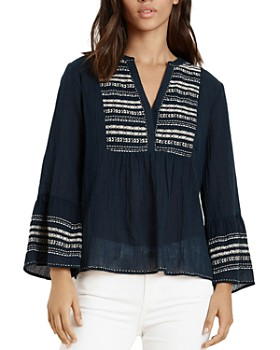 2d05554b09cb1 Velvet by Graham   Spencer - Zaley Embroidered Peasant Top ...